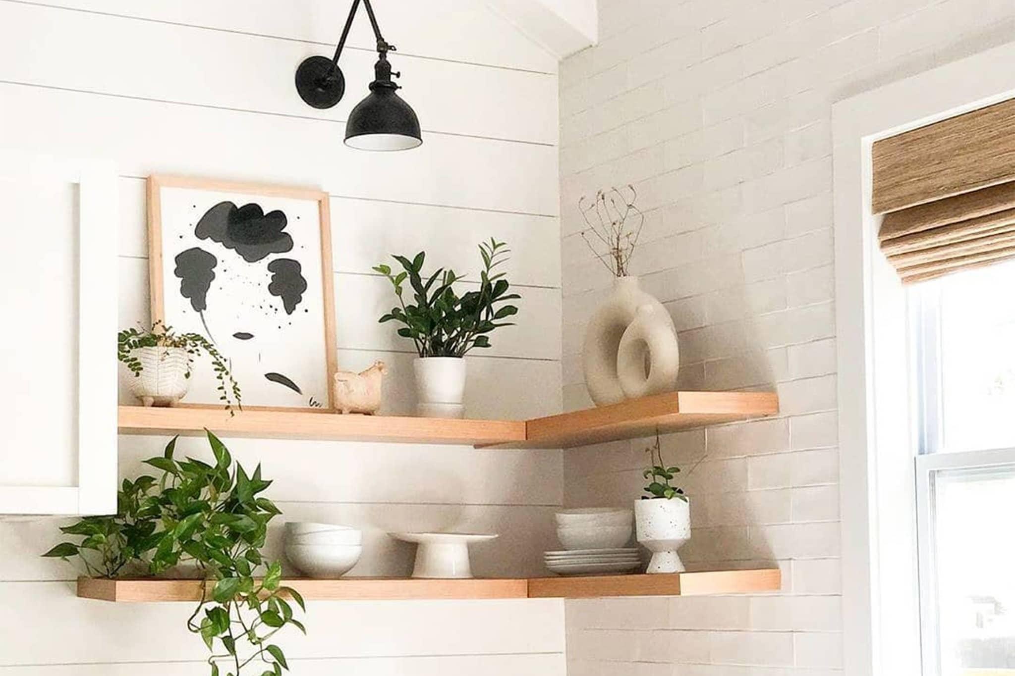 Floating Shelves installation